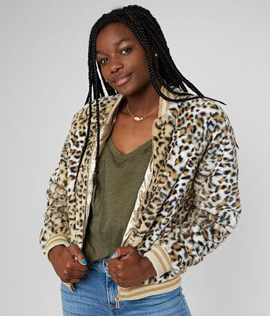 Ashley Faux Fur Cheetah Jacket