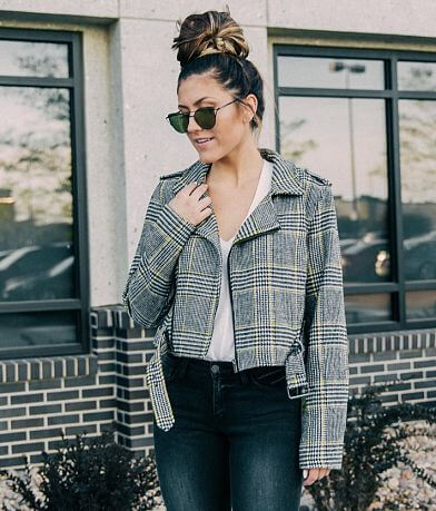 Stoosh Houndstooth Cropped Jacket