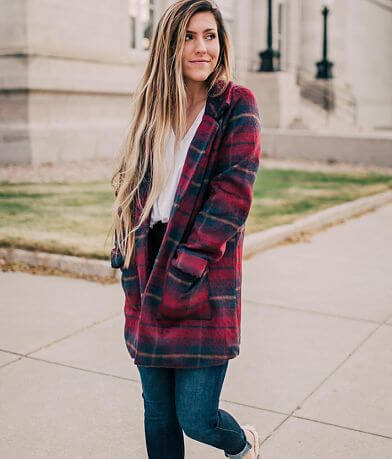 Stoosh Plaid Midi Jacket