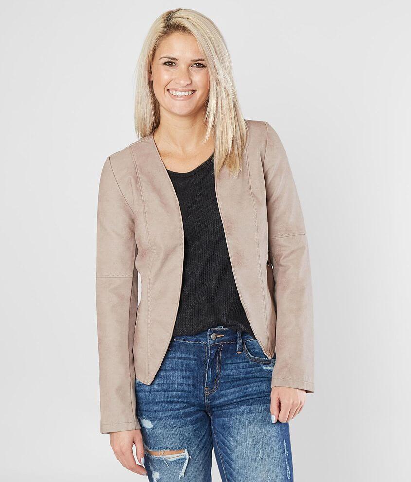 a34d79fe320 Daytrip Flyaway Faux Leather Jacket - Women s Coats Jackets in Taupe ...