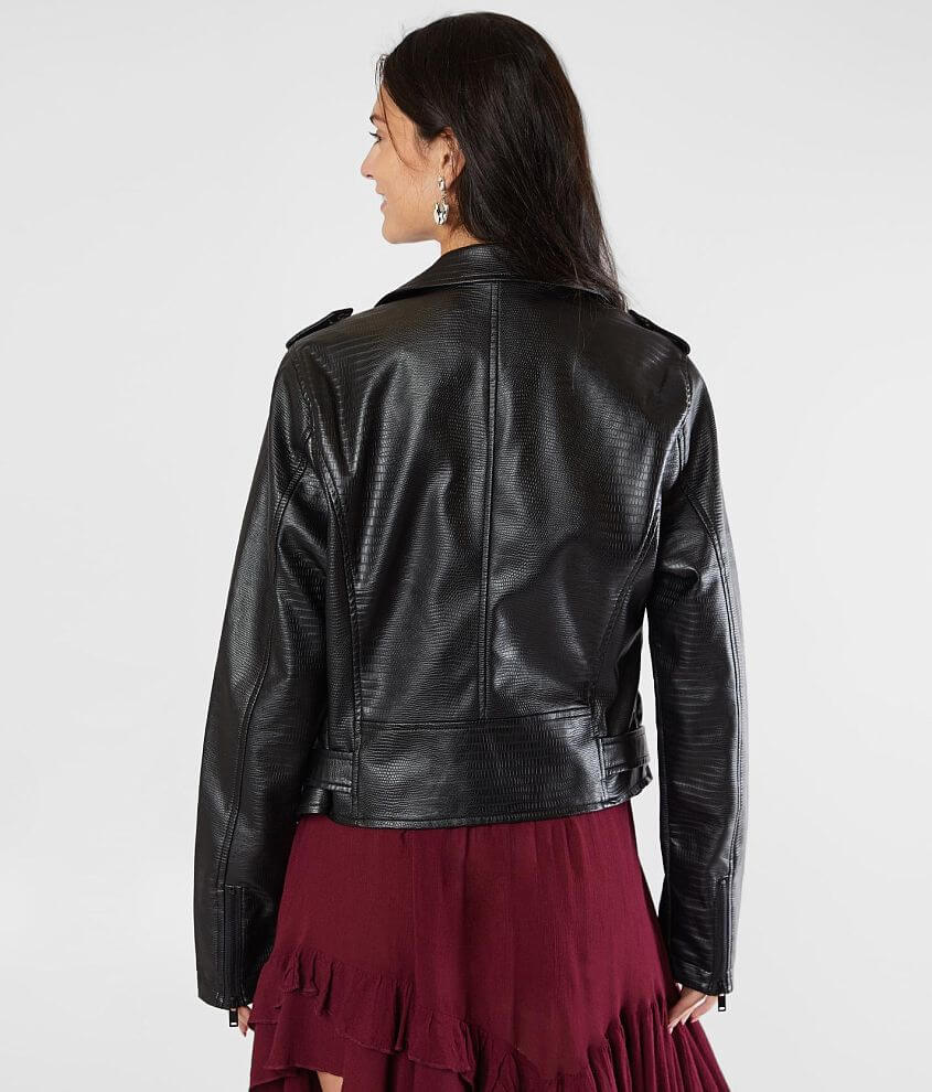 Daytrip Textured Faux Leather Jacket Women's CoatsJackets
