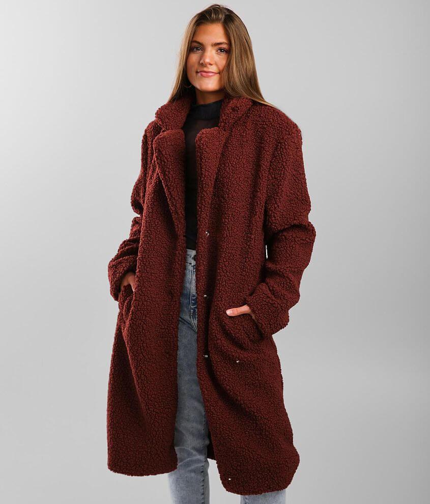 Ashley Sherpa Dress Coat front view