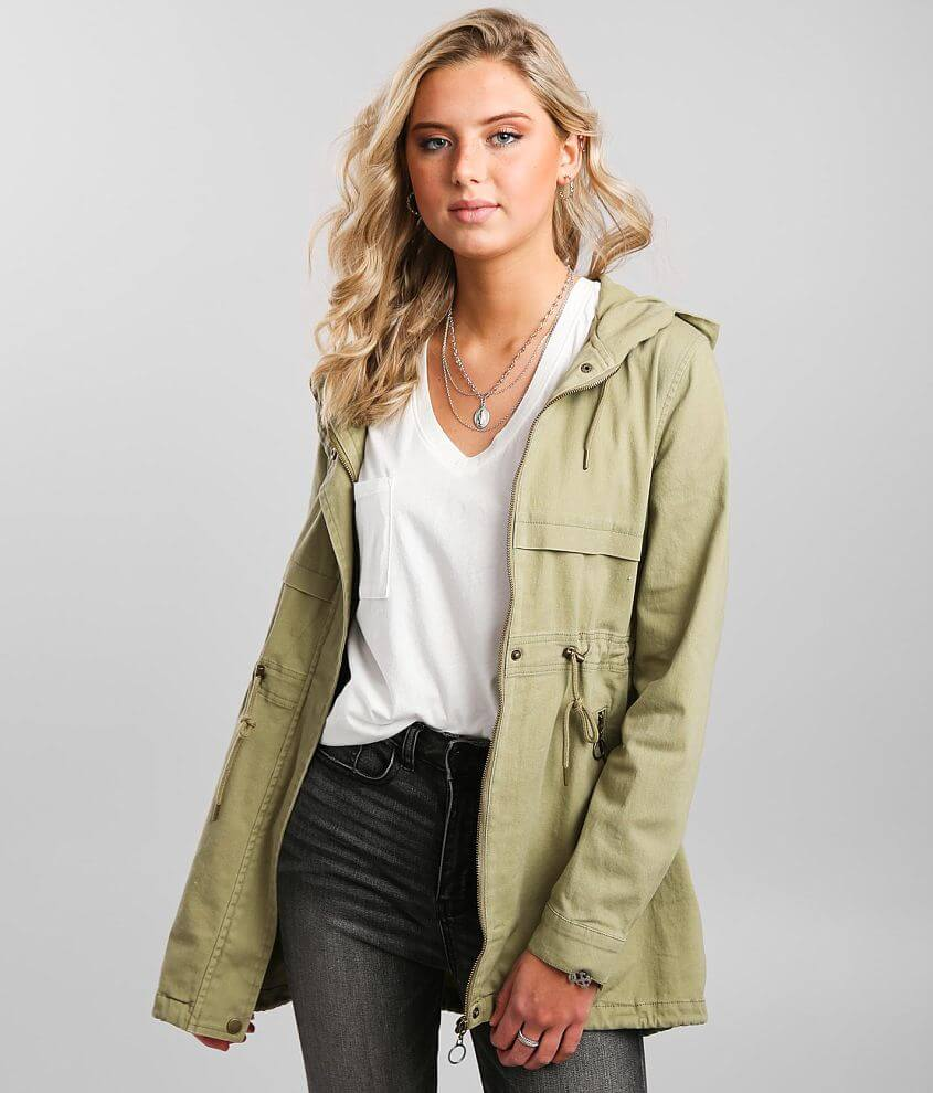 Daytrip Twill Hooded Jacket front view