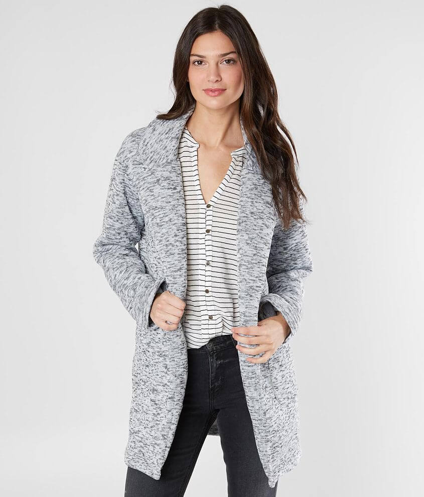 Style R000130BK/Sku 703835 Brushed fleece lined flyaway jacket Body length 31 1/2\\\