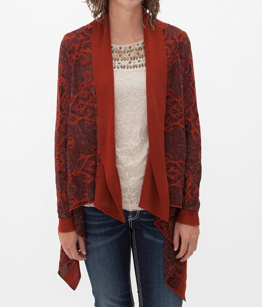Daytrip Southwestern Cardigan Sweater - Women's Cardigans in Rust ...
