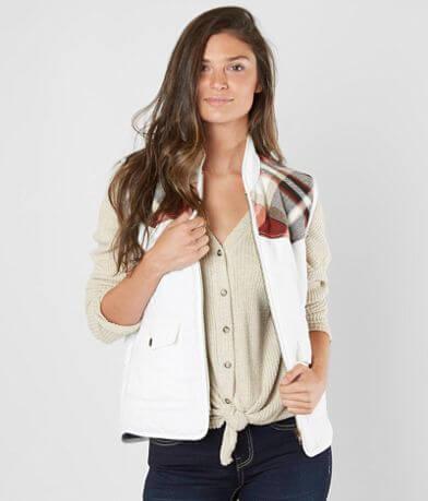 BKE Flannel Puffer Vest