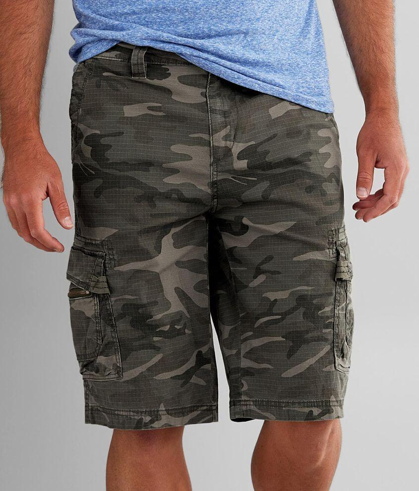 BKE Jeff Camo Stretch Cargo Short front view