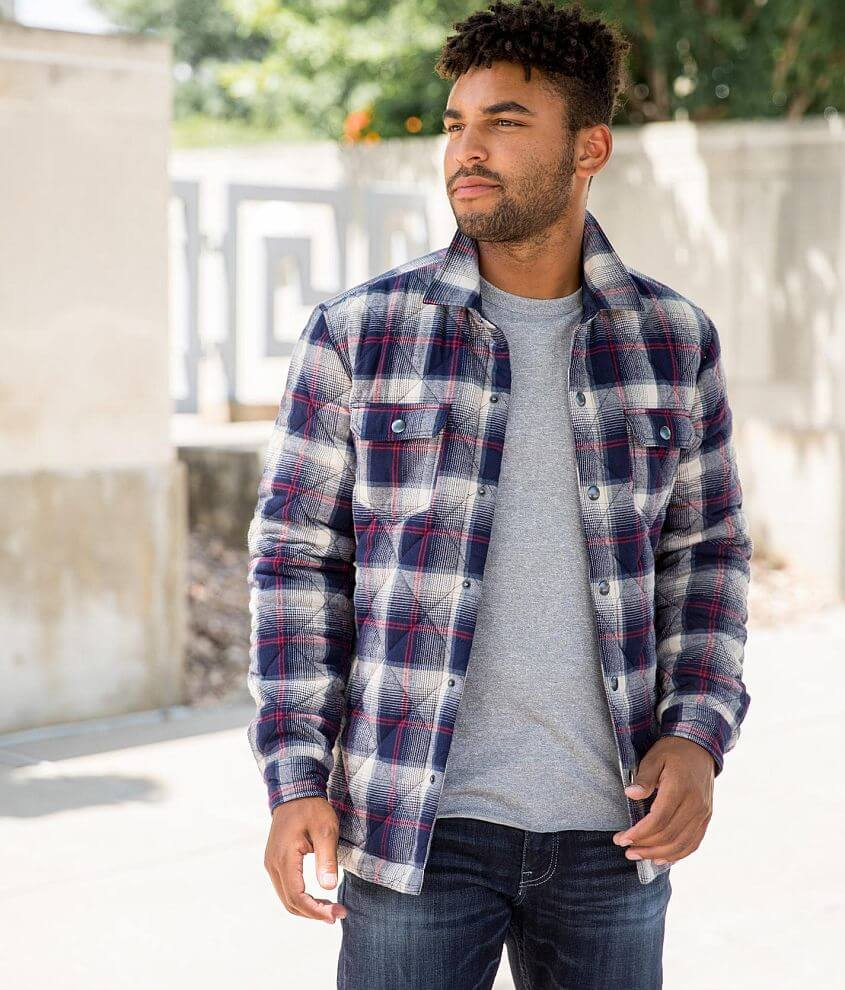 Departwest Flannel Shacket front view