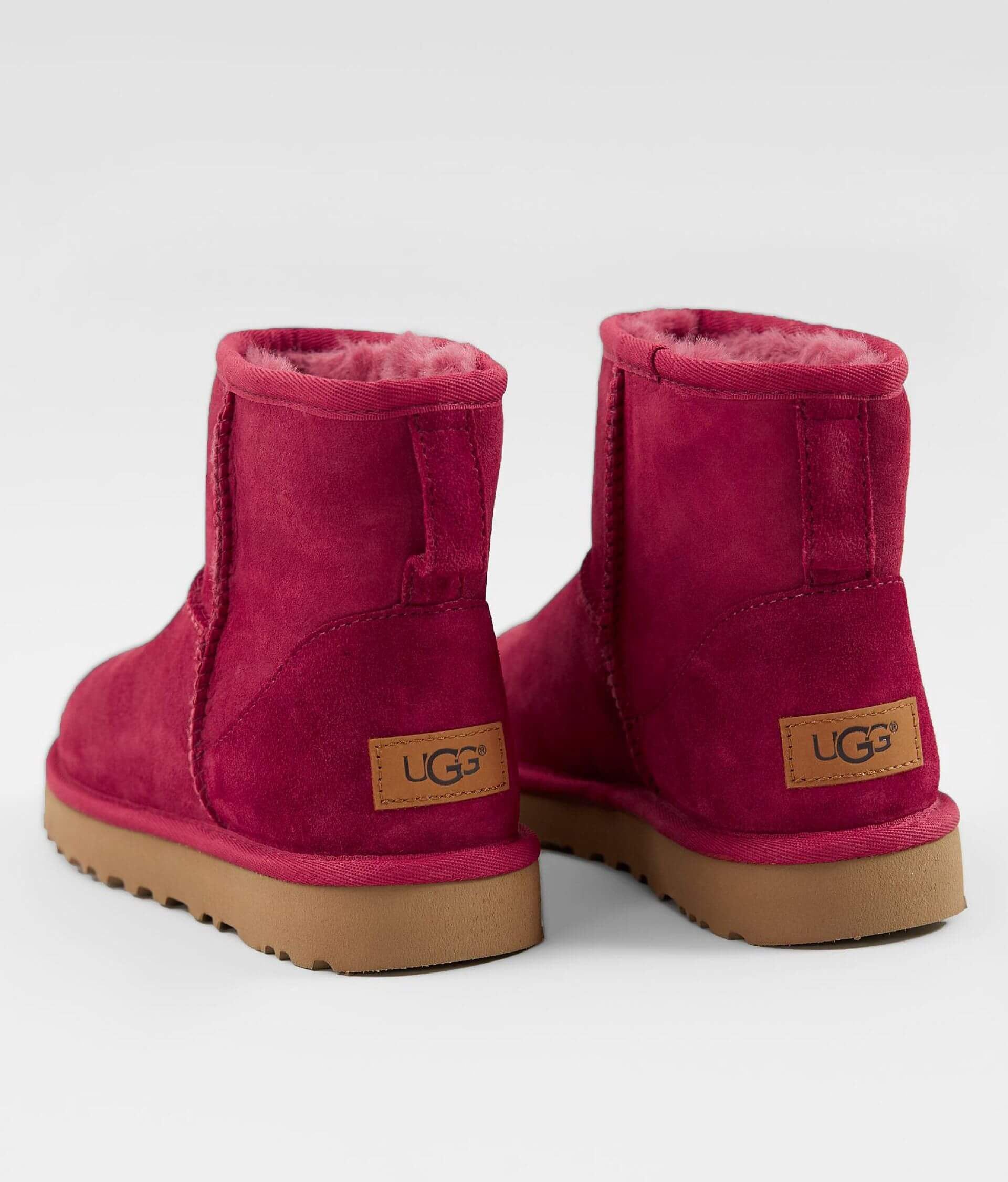 ef2a1538117 UGG® Classic Leather Mini Boot - Women's Shoes in Garnet   Buckle