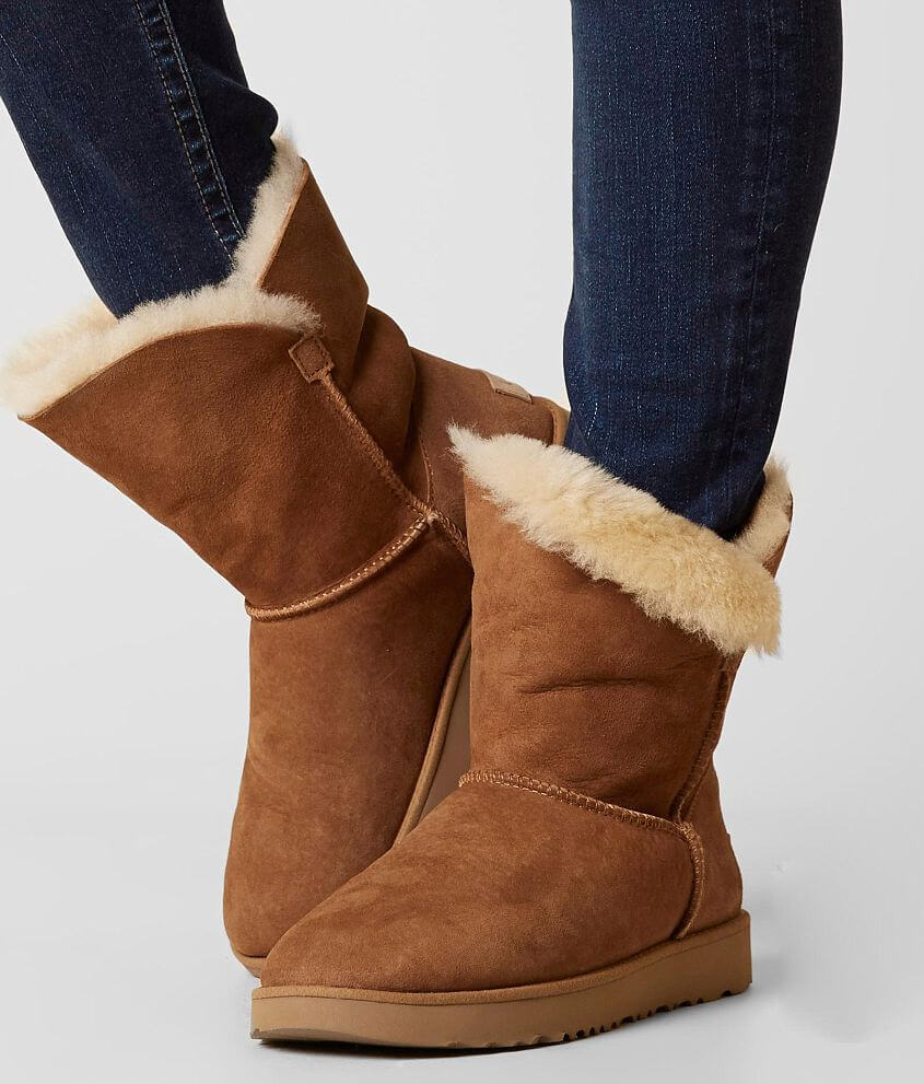f3aad234ba4bb4 UGG® Classic Cuff Leather Boot - Women's Shoes in Chestnut | Buckle