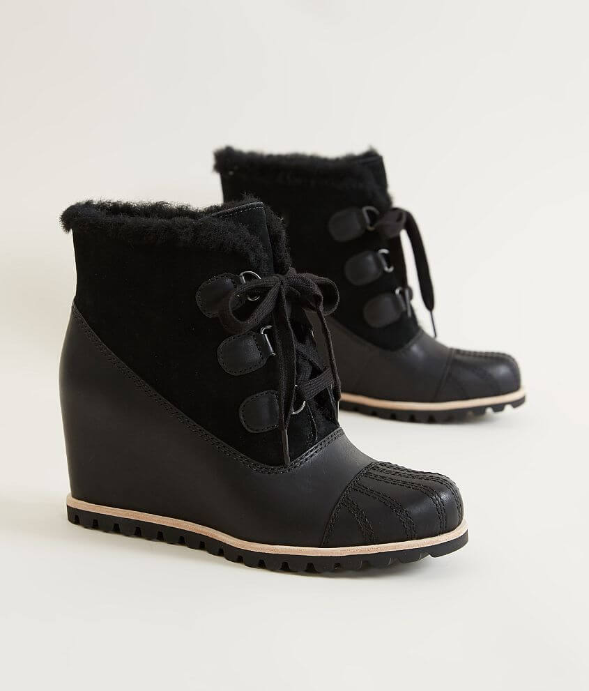 0d2a68a6906 UGG® Alasdair Leather Wedge Boot - Women s Shoes in Black