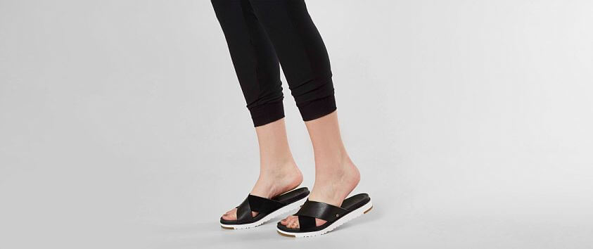 UGG® Kari Leather Sandal front view