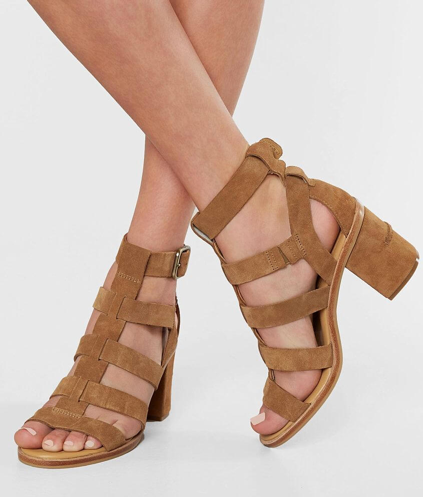 761b73a35c2 UGG® Macayla Leather Heeled Sandal - Women's Shoes in Chestnut | Buckle