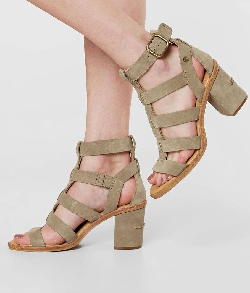 6e7be529bf6 UGG® Macayla Leather Heeled Sandal - Women's Shoes in Antilope | Buckle