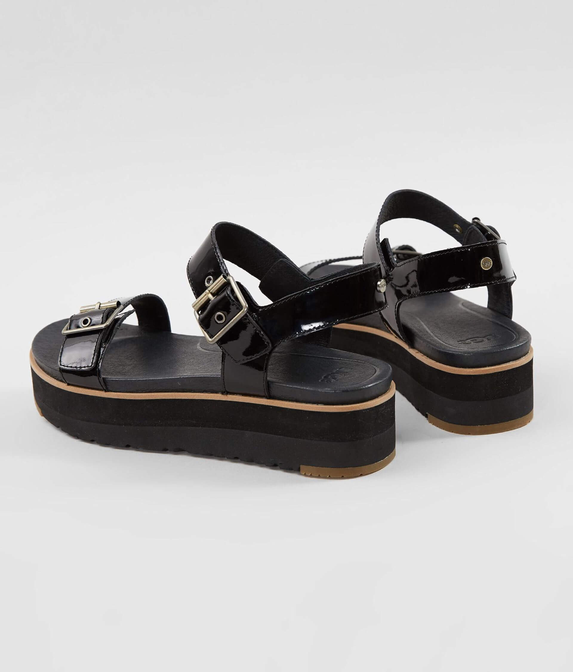 0454cceaf2d UGG® Angie Leather Sandal - Women's Shoes in Black | Buckle