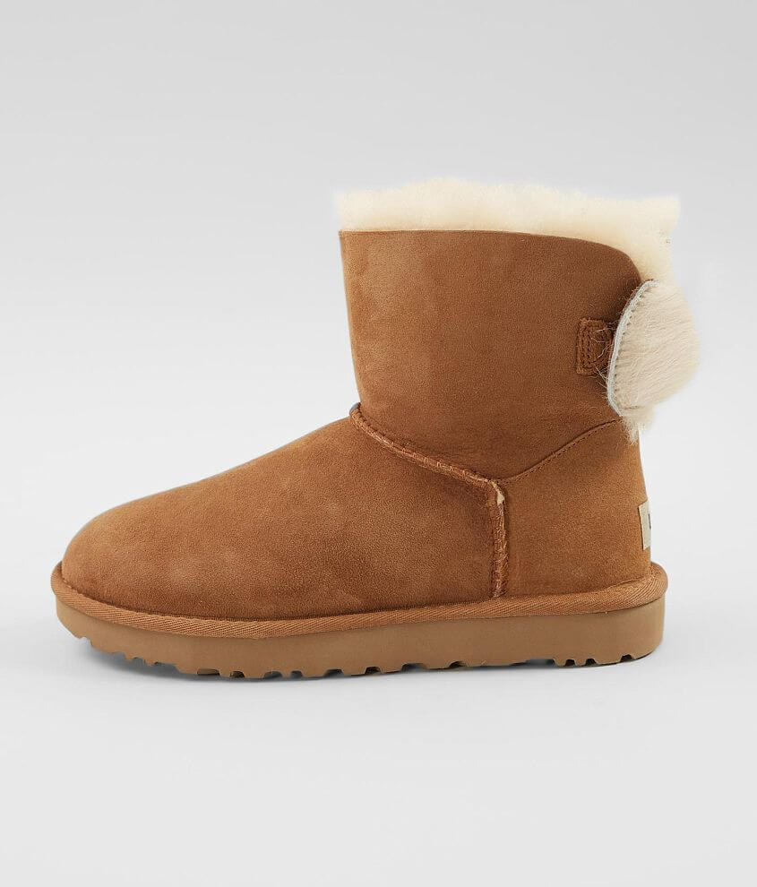 00494dd9bbc UGG® Fluff Bow Leather Mini Boot - Women's Shoes in Chestnut | Buckle