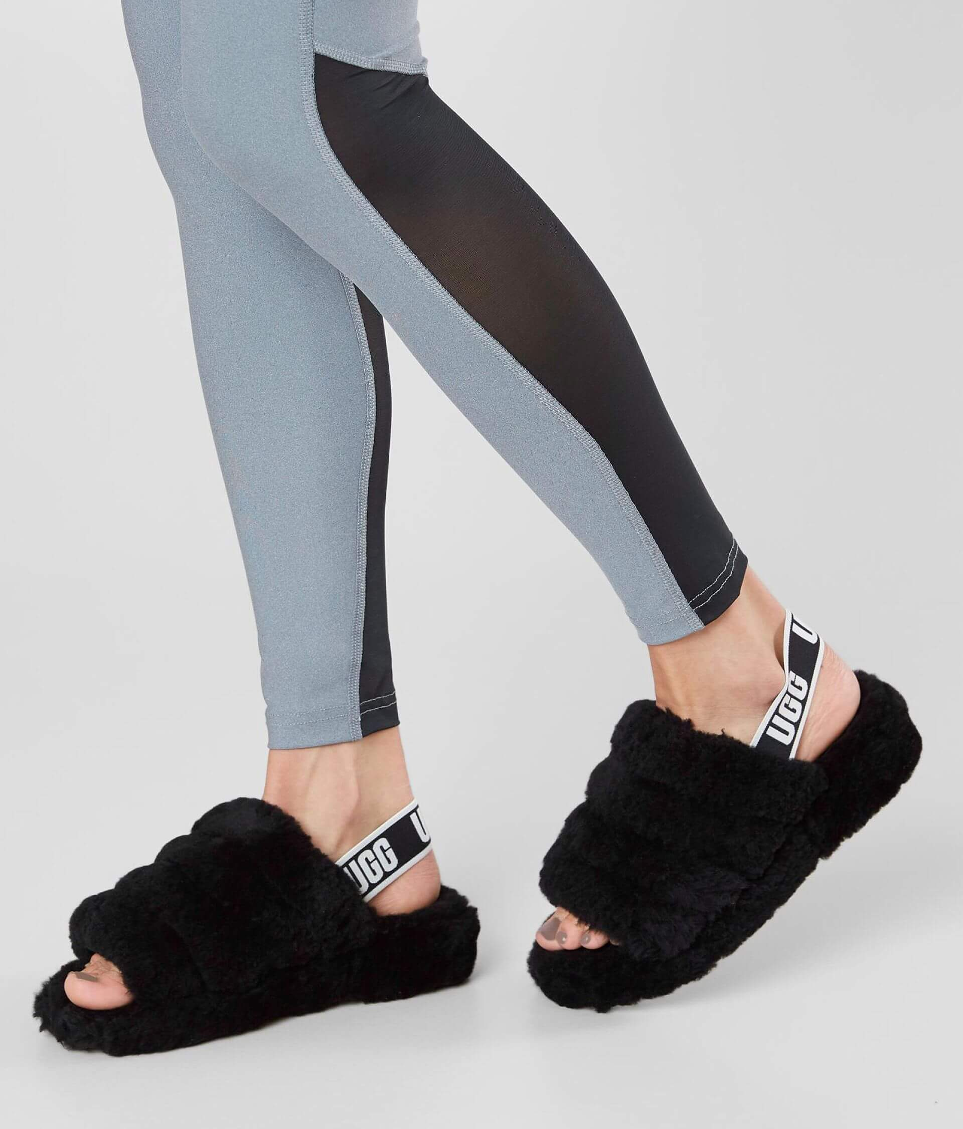 1b8ddd195d3 UGG® Fluff Yeah Slide - Women's Shoes in Black | Buckle