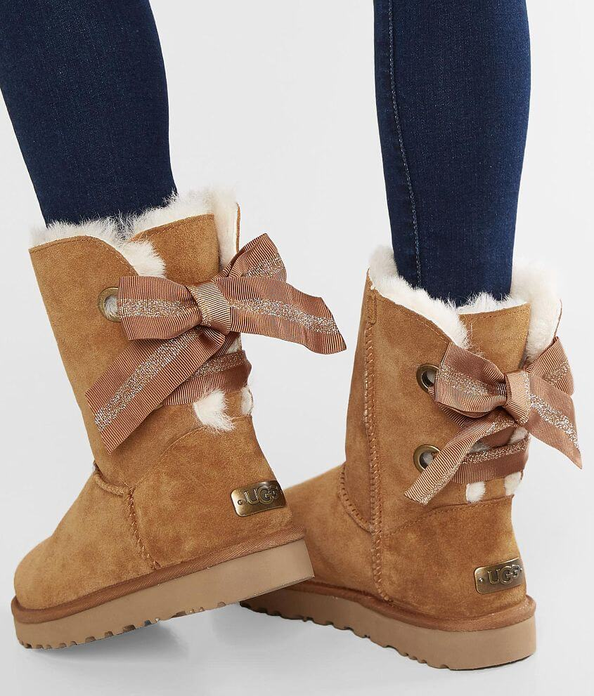 28a735add6f UGG® Bow Leather Boot - Women's Shoes in Chestnut | Buckle