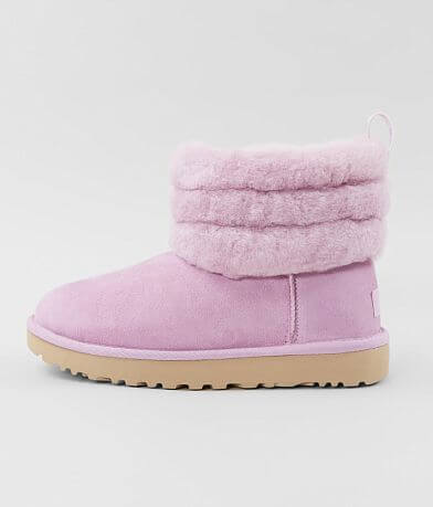 UGG® Fluff Mini Quilted Suede Ankle Boot
