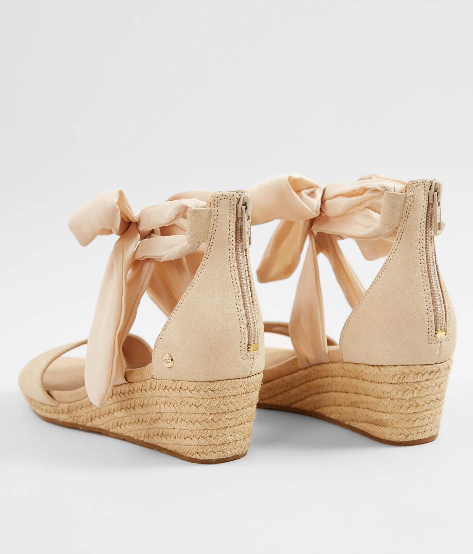 e452bb3ad26 UGG® Trina Leather Wedge Heeled Sandal - Women's Shoes in Nude | Buckle