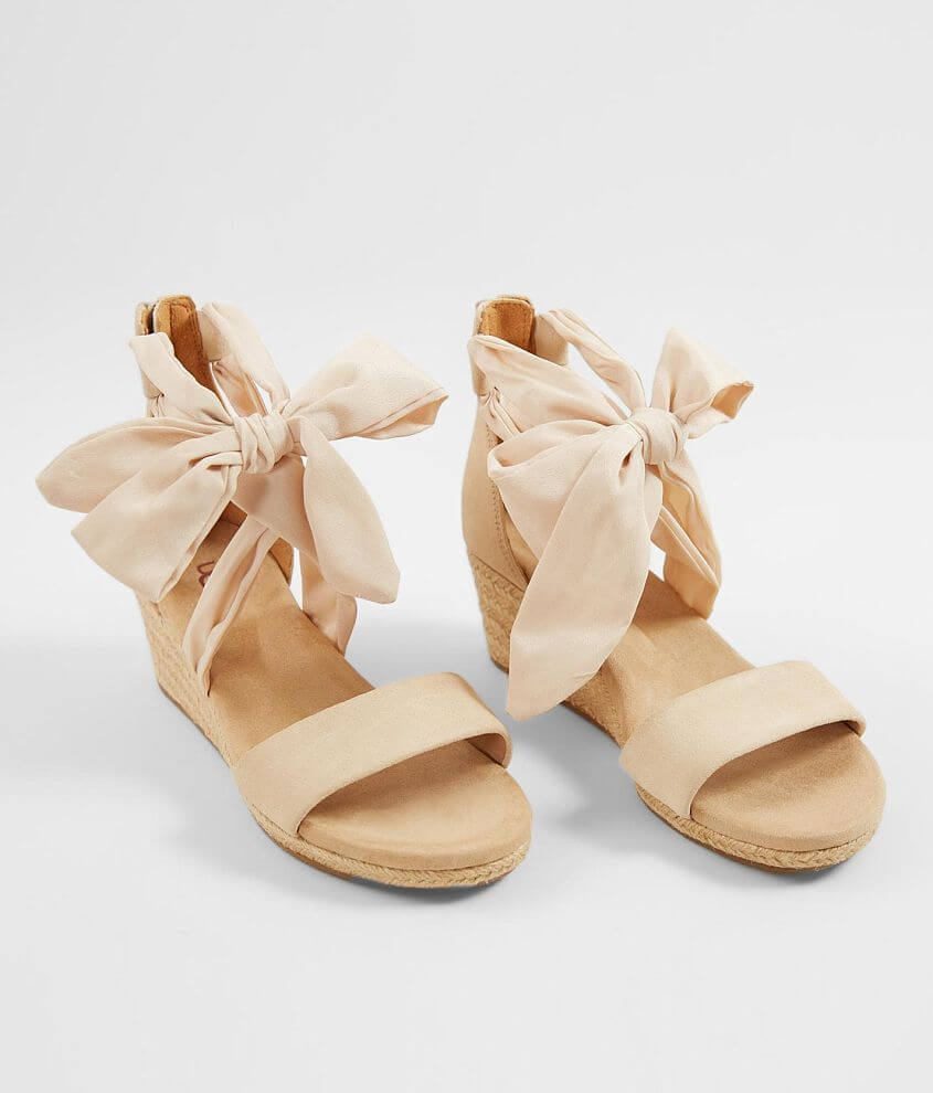 ae6b9f3fa23 UGG® Trina Leather Wedge Heeled Sandal - Women's Shoes in Nude | Buckle