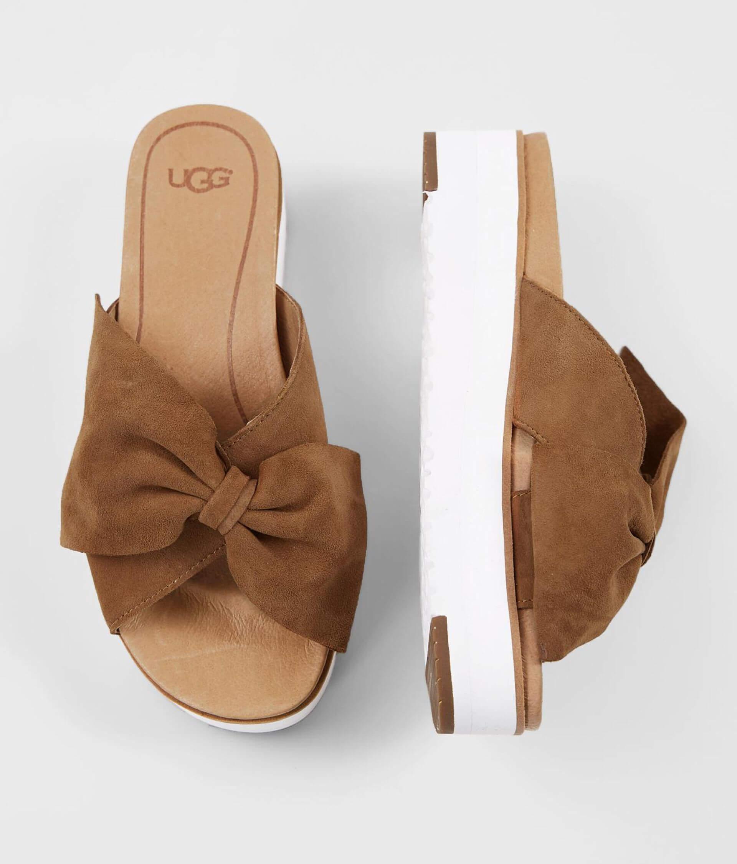 6e650c80592 UGG® Joan II Bow Leather Sandal - Women's Shoes in Chestnut | Buckle