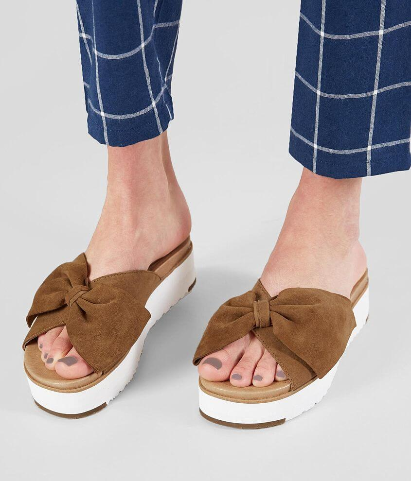 d2262f0a9dc UGG® Joan II Bow Leather Sandal - Women's Shoes in Chestnut | Buckle