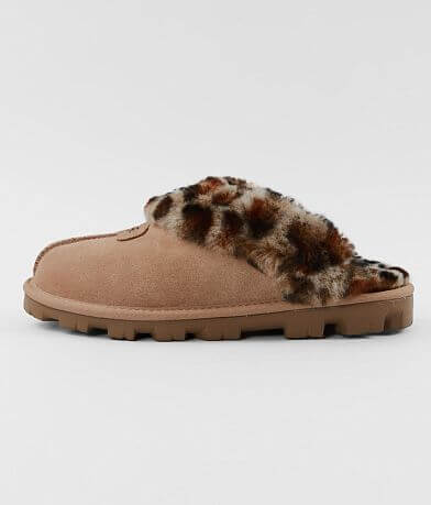UGG® Coquette Leopard Leather Slipper