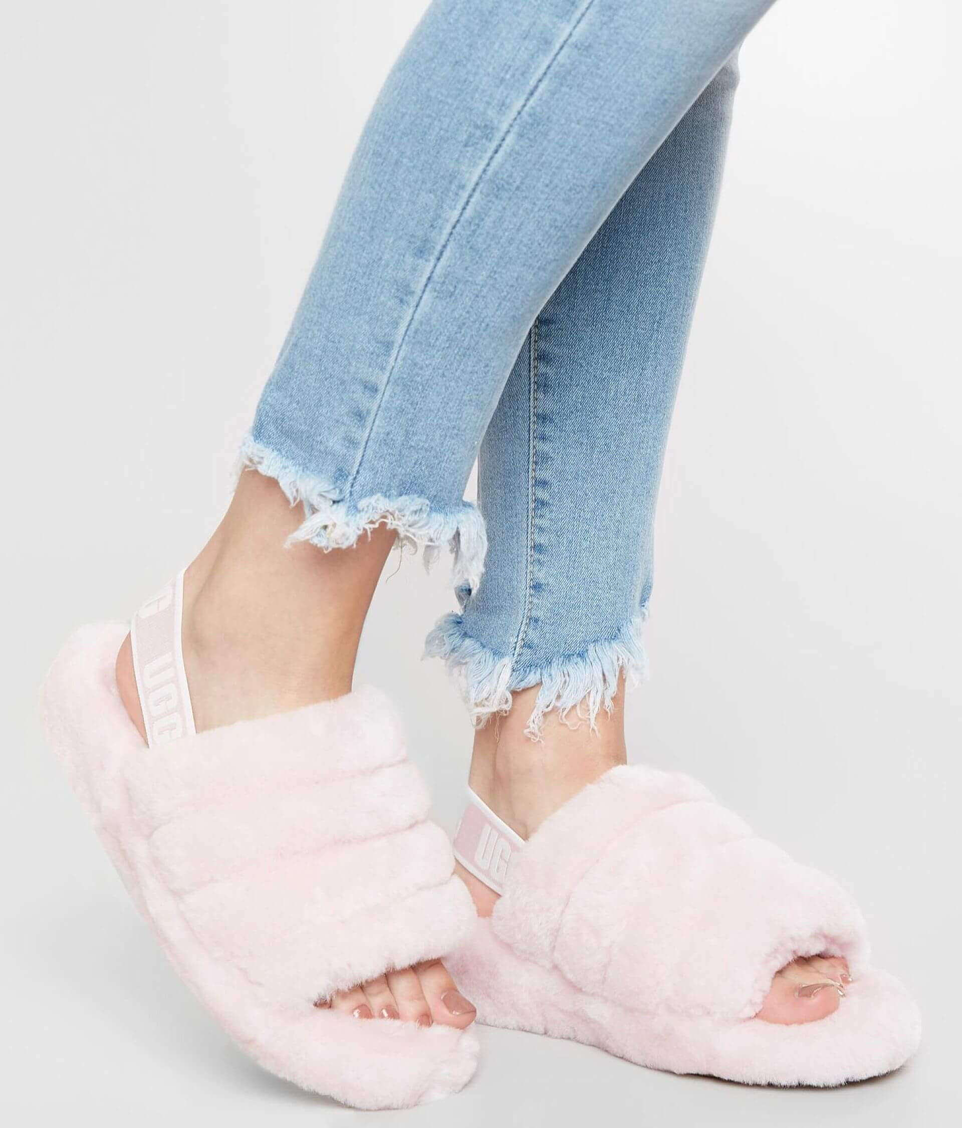 6acafb0f4fa UGG® Fluff Yeah Slide - Women's Shoes in Seashell Pink | Buckle
