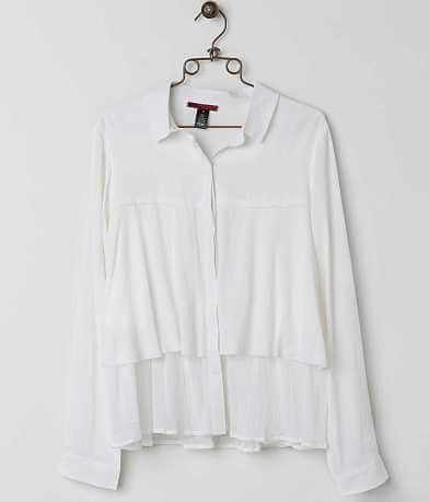 red by BKE Gauze Blouse