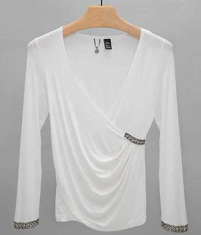 BKE Boutique Surplice Top