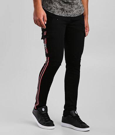 Industrial Indigo Cargo Skinny Stretch Jean