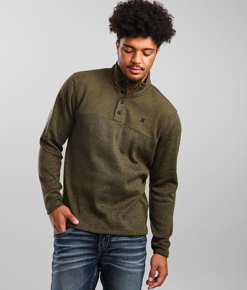 Hurley Quest Mock Neck Henley Pullover front view