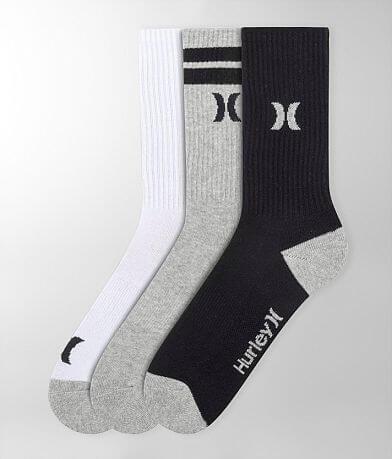 Hurley 3 Pack Crew Socks