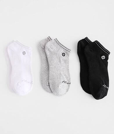 Hurley 3 Pack Low Cut Socks