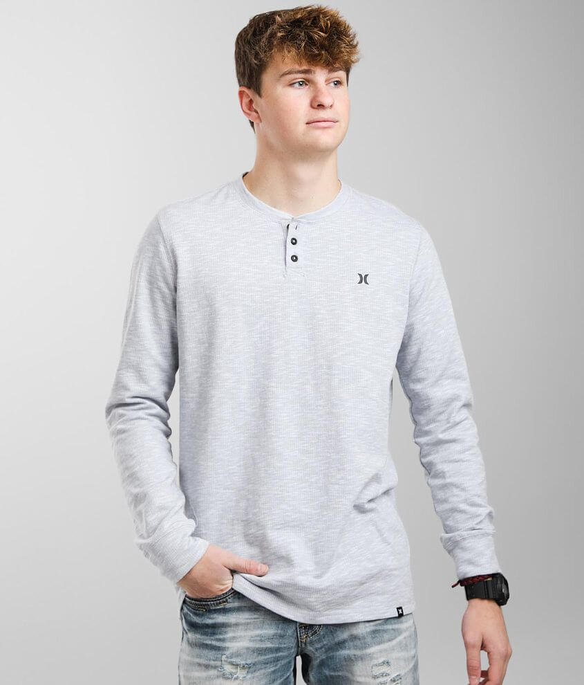 Hurley Avenue Dew Thermal Henley front view
