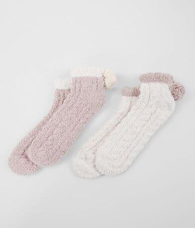 Lemon 2 Pack Chenille Ankle Socks