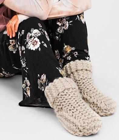 Lemon Cabin Cuffed Sweater Slipper
