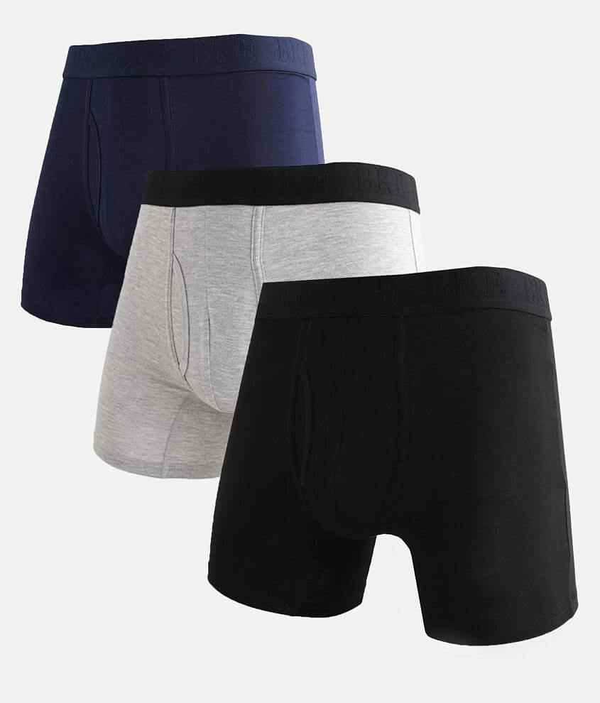 BKE 3 Pack Stretch Boxer Briefs front view