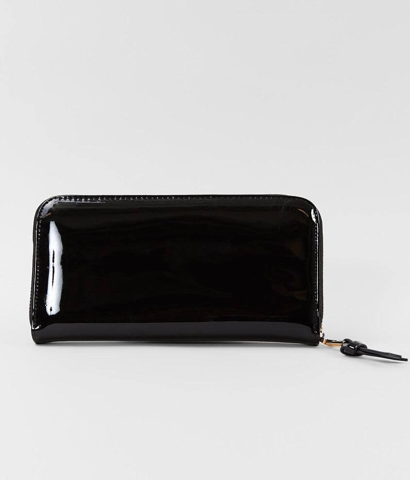 Urban Expressions Patent Faux Leather Wallet front view