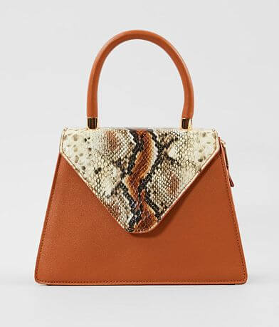 Urban Expressions Faux Snakeskin Structured Purse