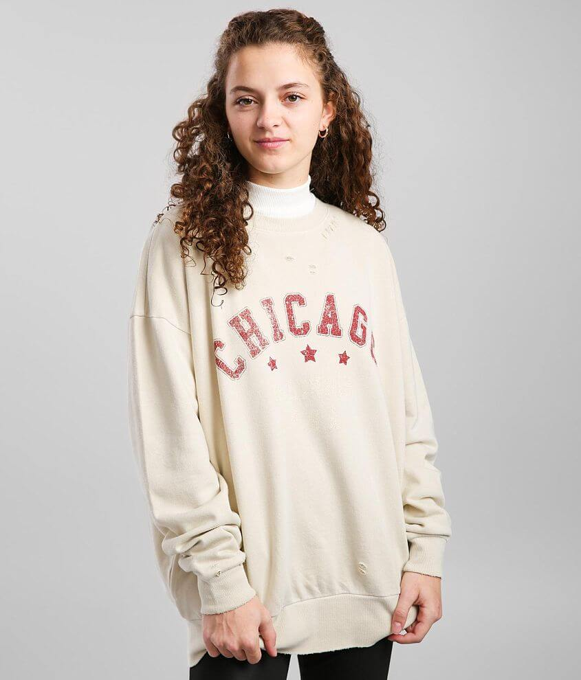 Urban Nation Chicago Oversized Pullover front view
