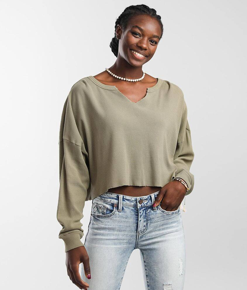 FITZ + EDDI Slouchy Cropped Top front view
