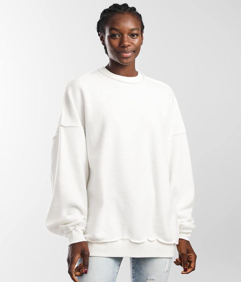 FITZ + EDDI Reverse Fleece Pullover - One Size front view