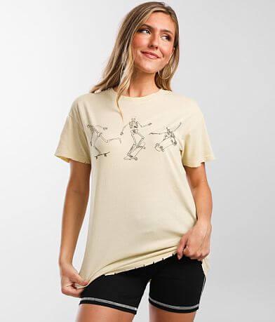 Modish Rebel Skateboard Skeleton T-Shirt