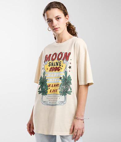 Modish Rebel Moonshine Happy Mind T-Shirt