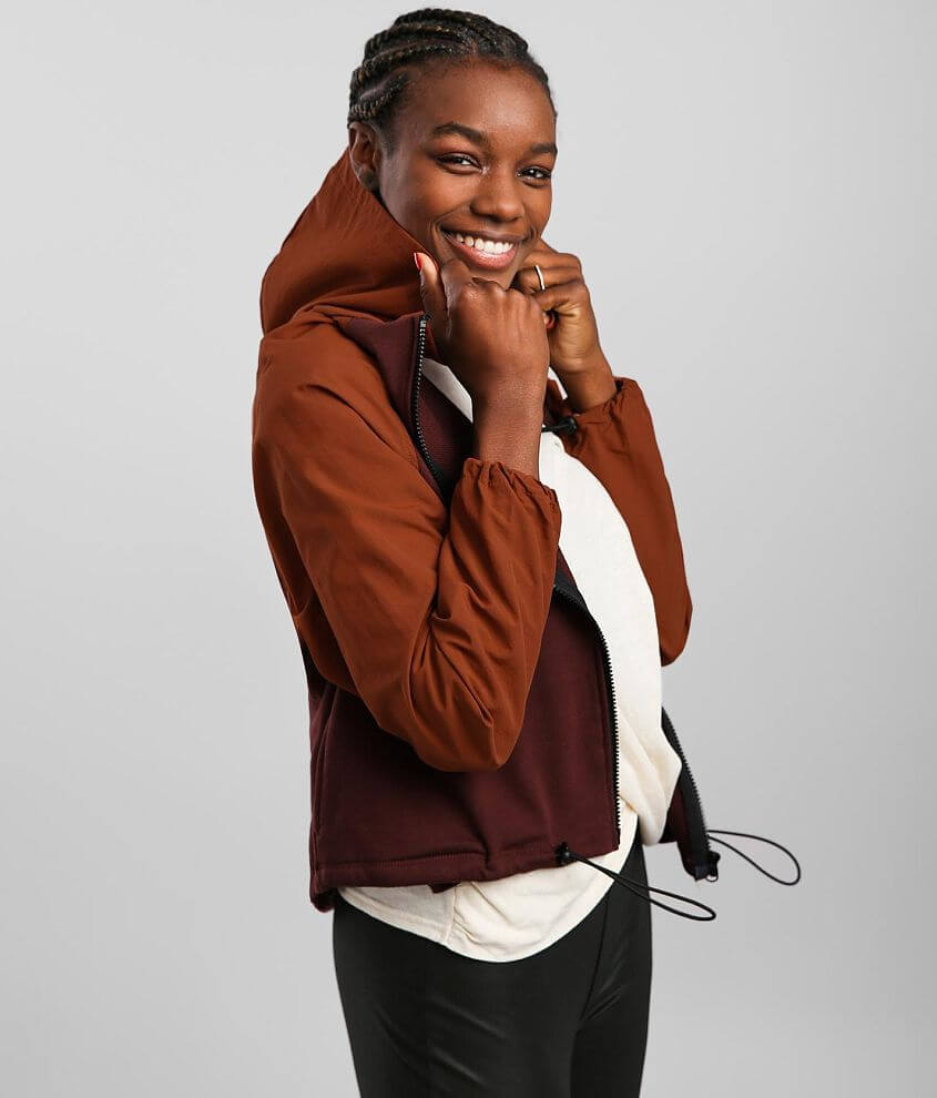 BKE core Color Block Hooded Jacket front view