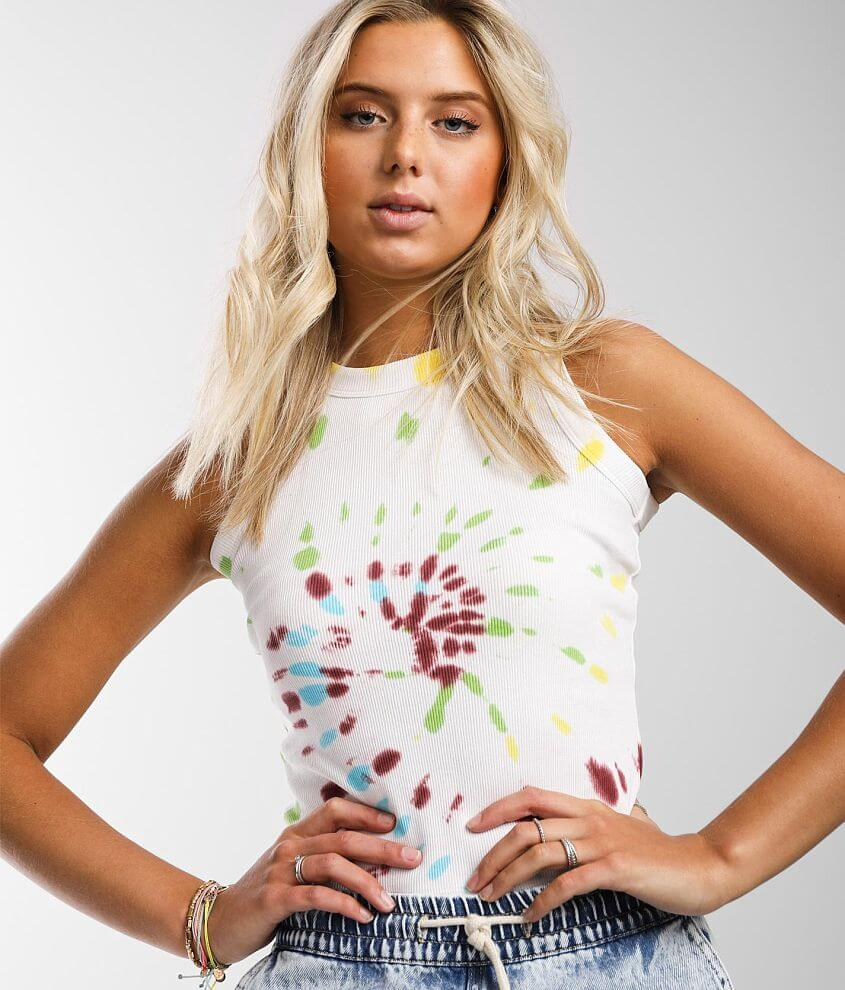 Gilded Intent Tie-Dye Tank Top front view