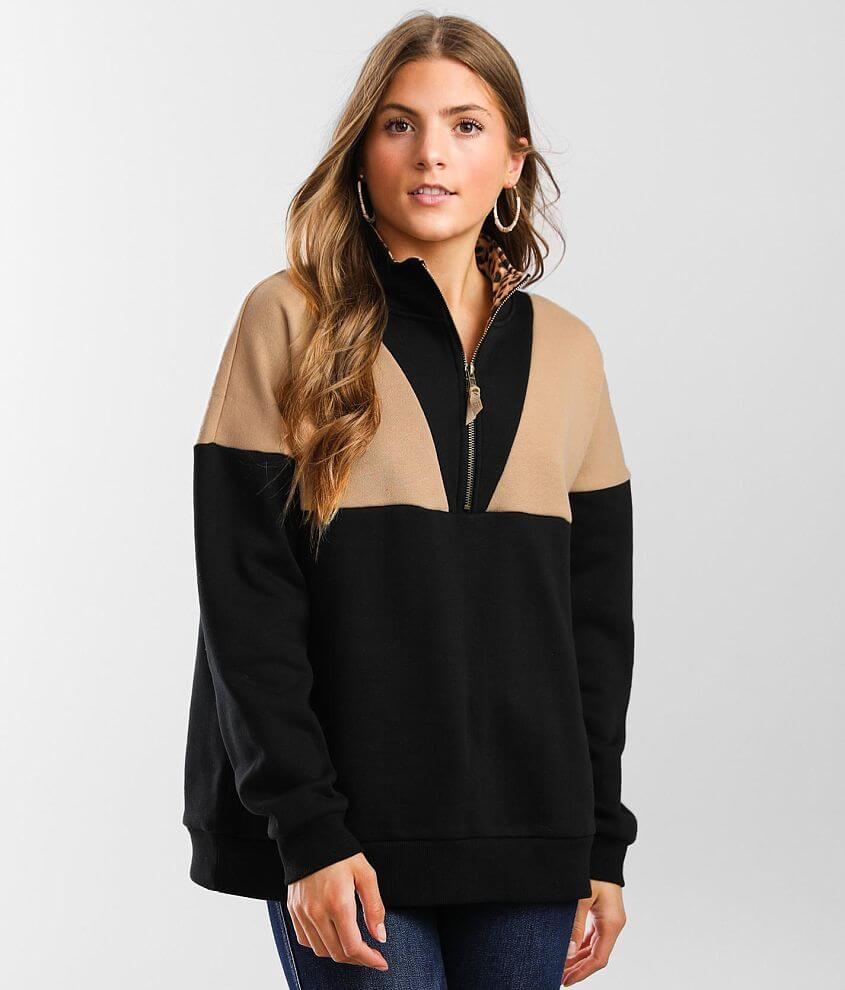 BKE Color Block Pullover front view