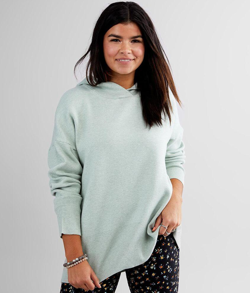 BKE Brushed Knit Hooded Sweatshirt front view